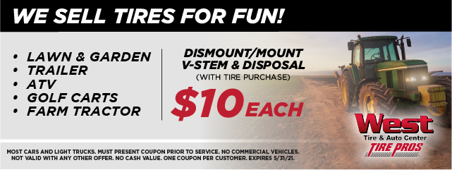 We Sell Tires For Fun!